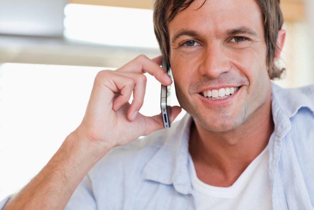 man making a call
