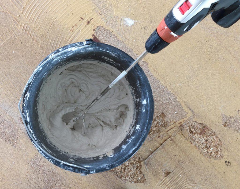 mixing expoxy for the floor