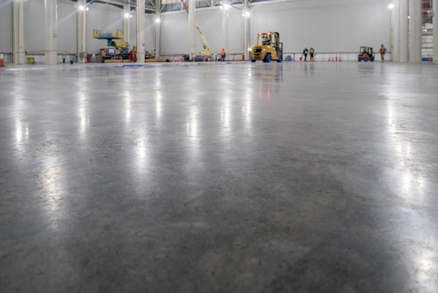 epoxy floor in warehouse factory